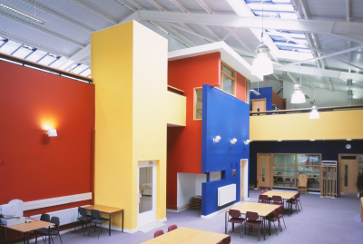 The Learning Centre (Shrewsbury Sixth Form College) by Contemporary, Modern and Conservation architects Baart Harries Newall (BHN architects) based in Shrewsbury.