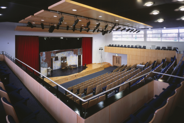 Centre for Performance Arts (Concord College) by Contemporary and Modern architects Baart Harries Newall (BHN architects) based in Shrewsbury.