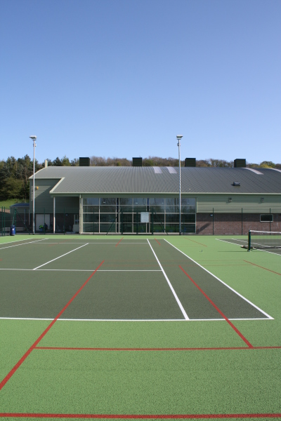 Oakengates Tennis Centre (Telford and Wrekin) by Contemporary and Modern architects Baart Harries Newall (BHN architects) based in Shrewsbury.