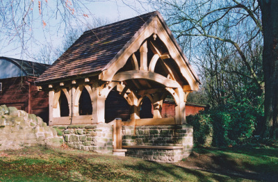 Millennium Lychgate (Church Preen, West Midlands) by Conservation architects Baart Harries Newall (BHN architects) based in Shrewsbury.