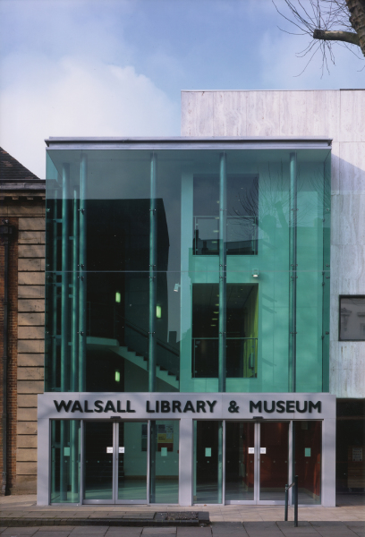 Walsall Library & Museum (West Midlands) by Contemporary, Modern and Conservation architects Baart Harries Newall (BHN architects) based in Shrewsbury.