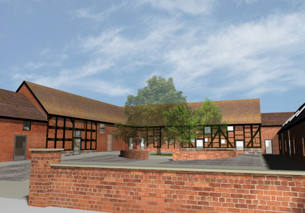 Convert a range of Grade 2 listed barns into teaching accommodation.