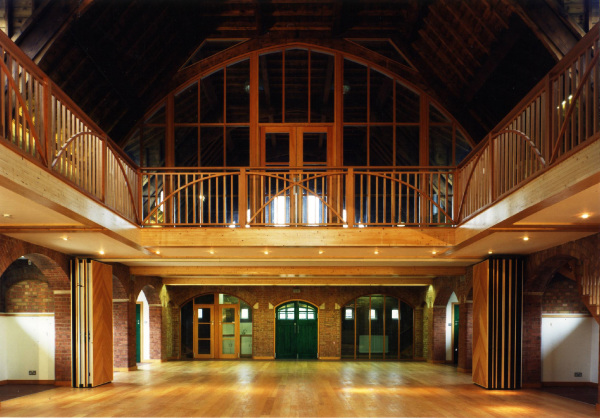 Conversion of a Grade II listed Arts and Craft Hall to accommodate a wide variety of functions