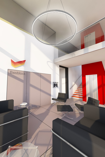 Reception Interior - Besblock Office