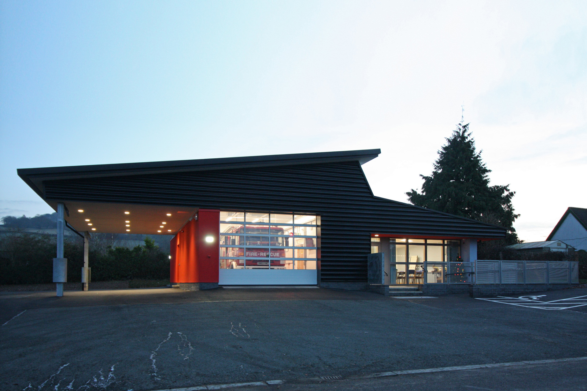 Clun Fire Station by BHN Architects