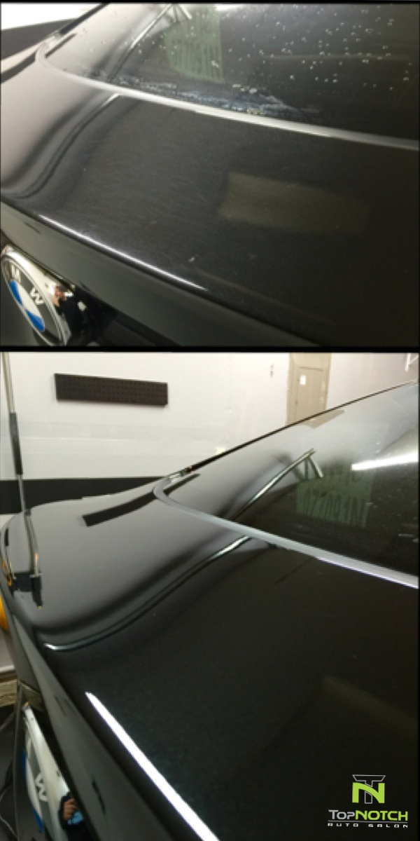 before and after machine polish
