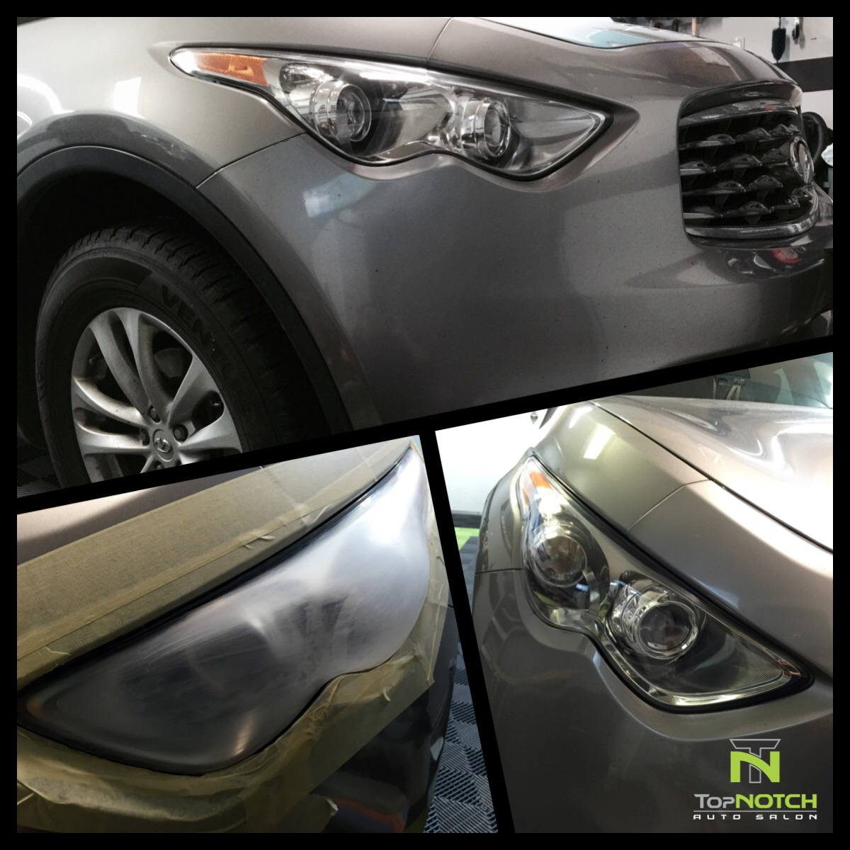 infinity fx35 headlight restoration - Top Notch Auto Salon