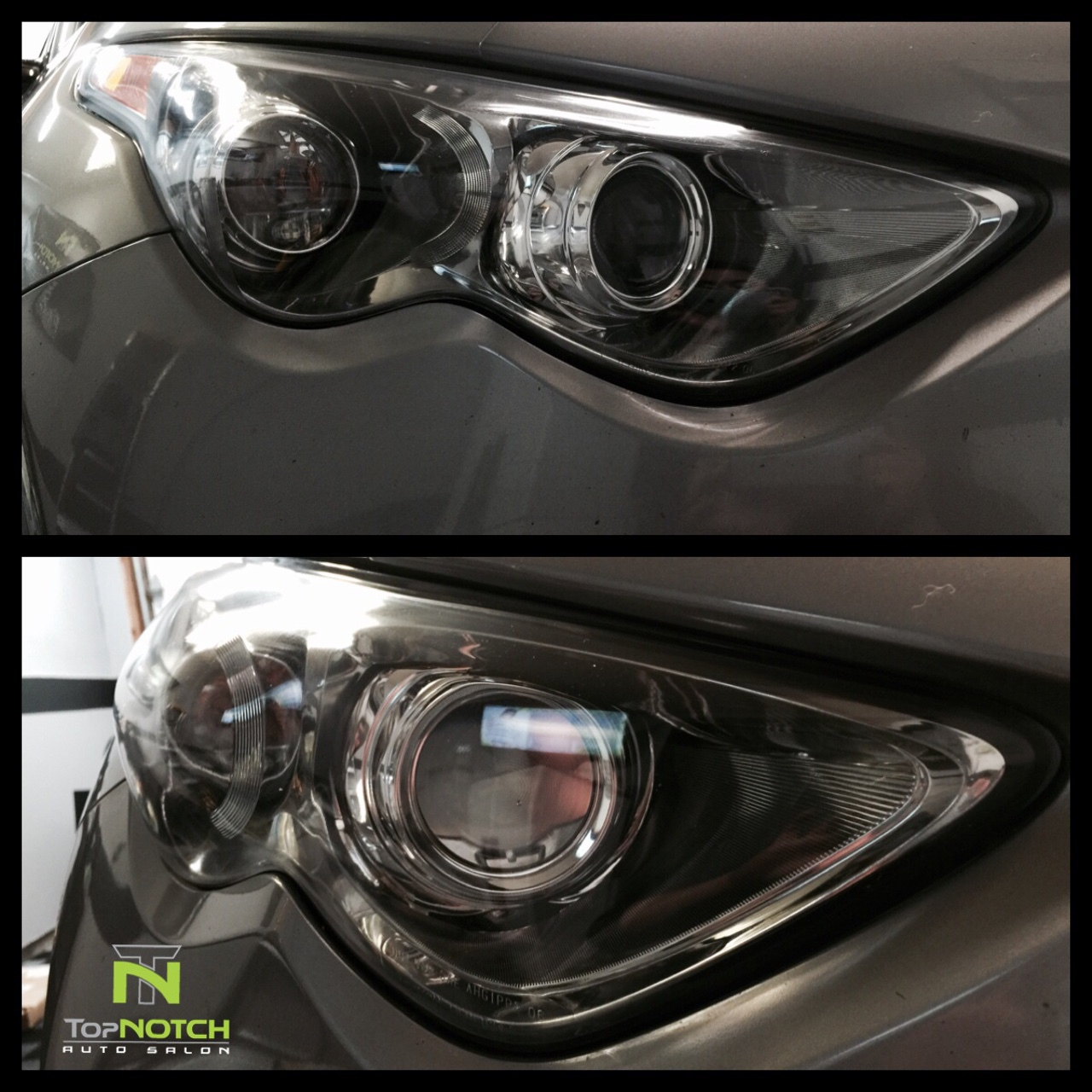 infinity fx35 after headlight restoration - Top  Notch Auto Salon