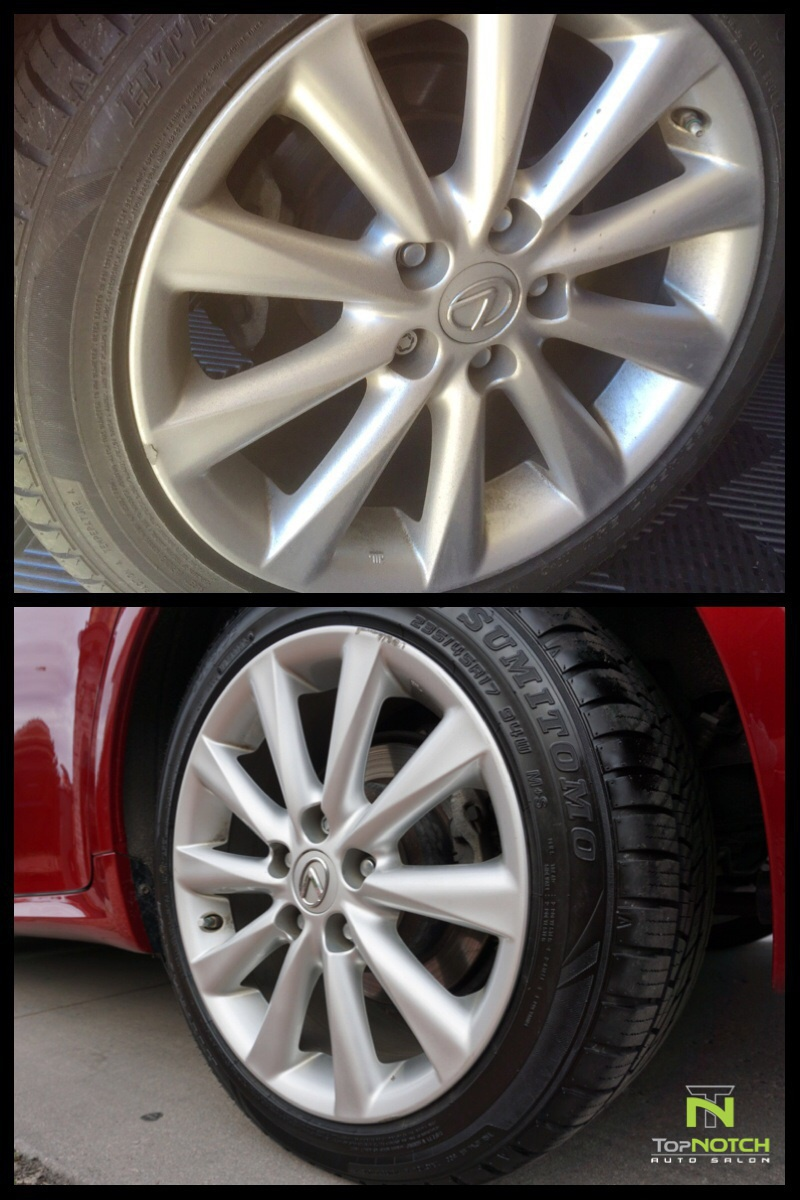 Wheel clean & Tire shine