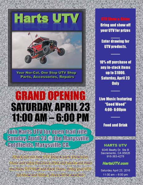 Harts UTV Grand Opening Party