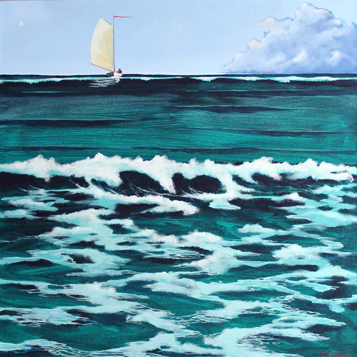 "hilton head art, low country art, lowcountry artist, south carolina artist, ""COME & SEE!"" a gentle surreal seascape by J. K. Crum"
