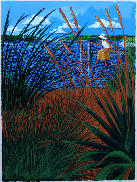 "hilton head art, low country art, lowcountry artist, south carolina artist, ""Wishing You Back"" Lowcountry coastal scene by J. K. Crum"