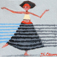 Dancing lady, radio active painting by John K. Crum