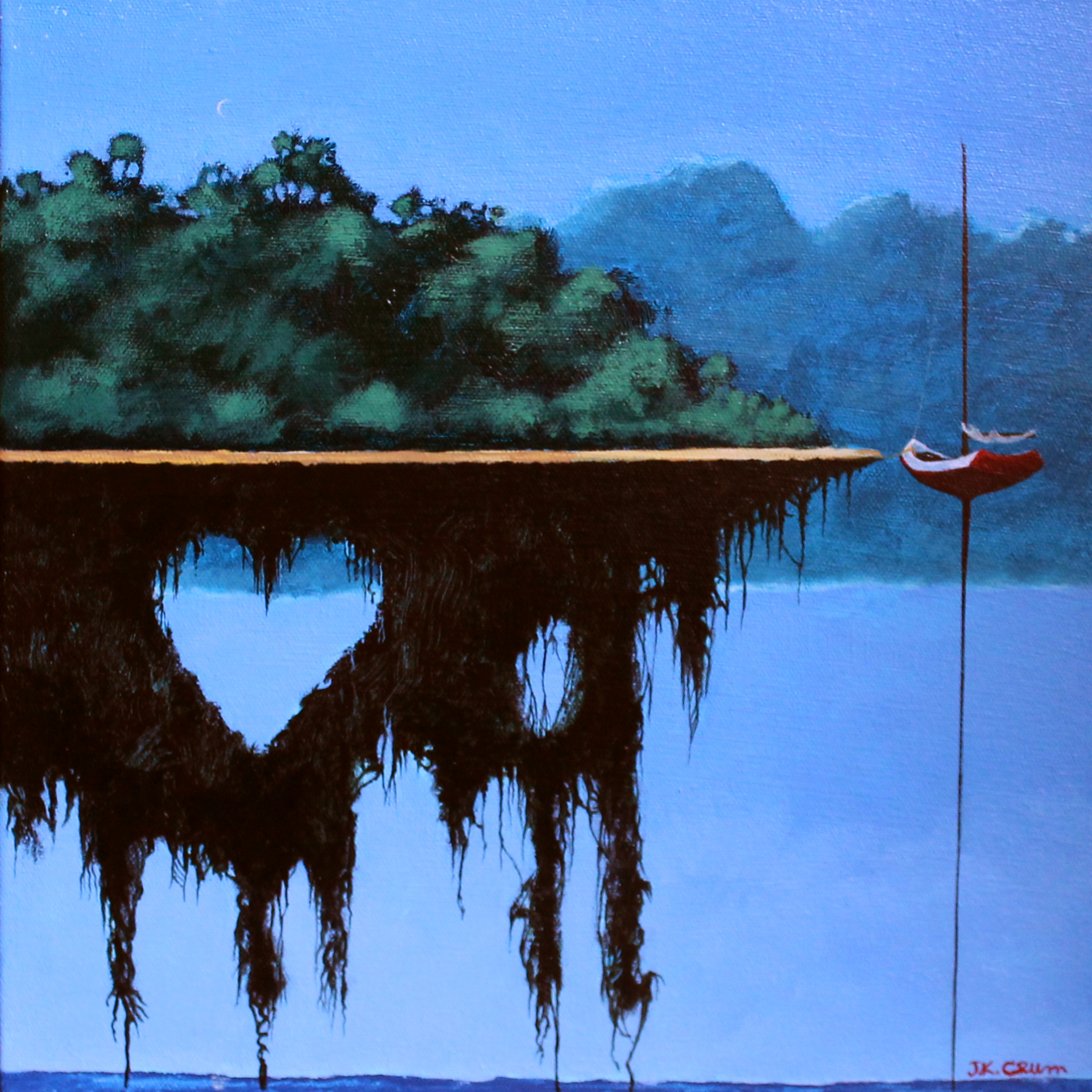 hilton head art, low country art, lowcountry artist, south carolina artist, Gently surreal island art by J. K. Crum