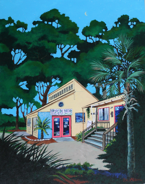 hilton head art, low country art, lowcountry artist, south carolina artist, Coastal island, landscape, and seascape paintings by J. K. Crum