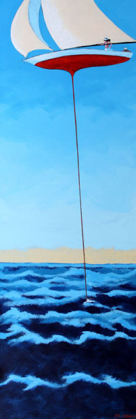 hilton head art, low country art, lowcountry artist, south carolina artist, Gentle surrealism sailing art by J. K. Crum
