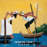 """Wish Me Lov"" painting by J. K. Crum"