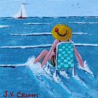 Whimsical miniature painting by J.K.Crum