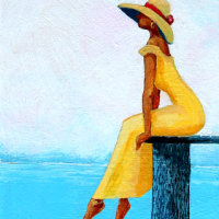 """Mellow Yellow"" daydreaming while viewing the beautiful Lowcountry."