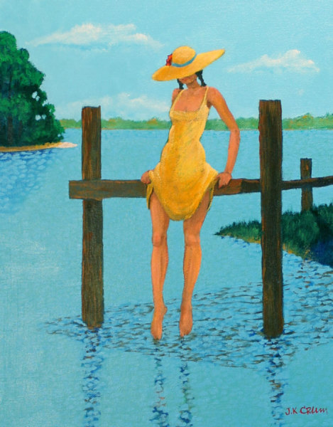 hilton head art, low country art, lowcountry artist, south carolina artist, Figurative painting by John K. Crum