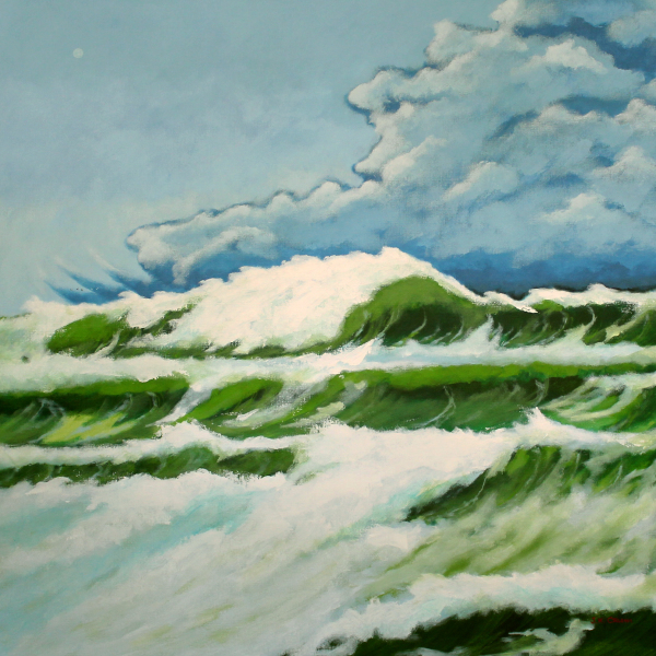 hilton head art, low country art, lowcountry artist, south carolina artist, ocean, sea, waves, white caps