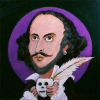 Shakespeare portrait by John K. Crum
