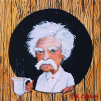Mark Twain portrait by John Crum