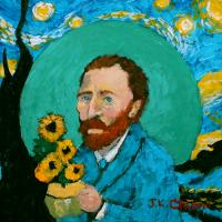 Vincent Van Gogh portrait by John K. Crum