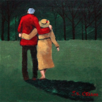 Senior coucple painting by J. K. Crum