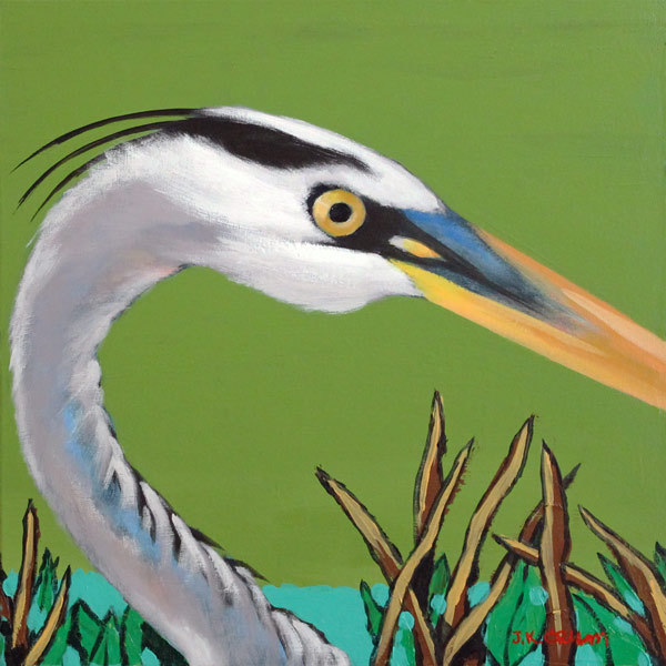 hilton head art, low country art, lowcountry artist, south carolina artist, Great Heron, Heron eye, bird closup