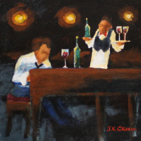piano player, piano, bartender, bar, closing time