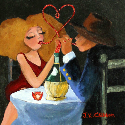 hilton head art, low country art, lowcountry artist, south carolina artist, chianti, wine, couple at table, couple in love, wine tasting