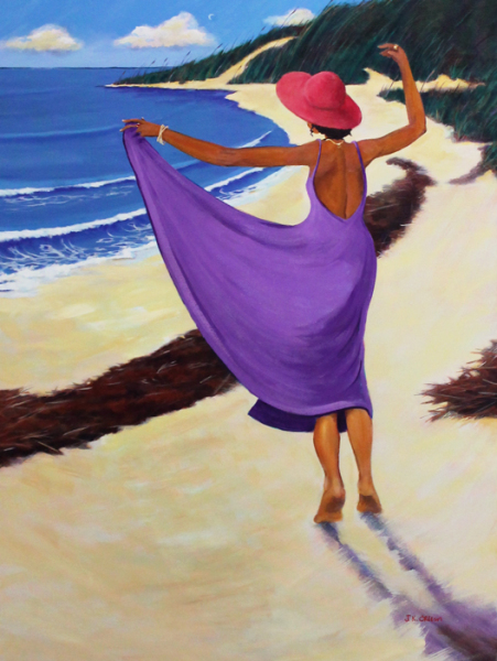 hilton head art, low country art, lowcountry artist, south carolina artist, beach, dancing, nature, ocean, lowcountry