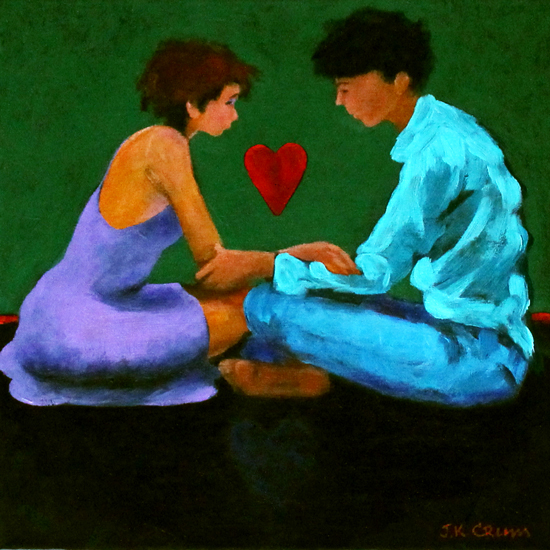 hilton head art, low country art, lowcountry artist, south carolina artist, young love, valentines, in love, lovers, couple in love