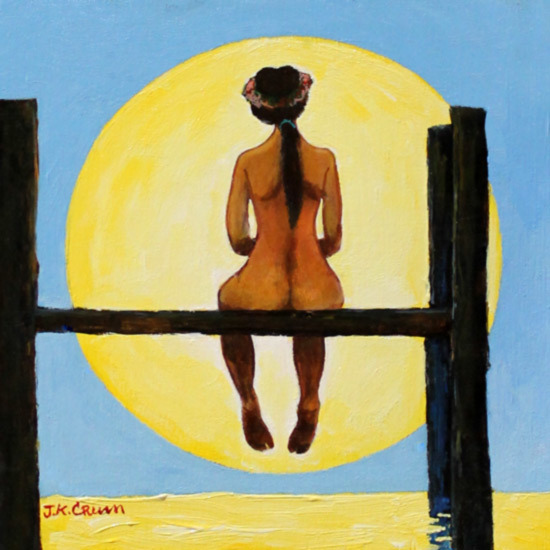 sunrise, dock, woman