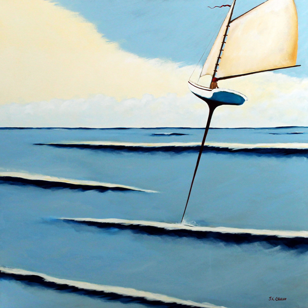 sailboat, sailing, ocean, calm