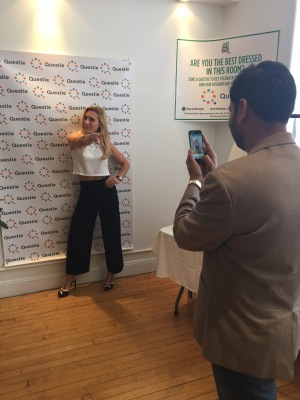 Britany from Marie Claire Striking a pose for #QuestieforStyle contest