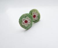 Ceramics, Flower earrings, Ceramic botanical earstuds