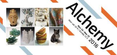 Alchemy exhibition flyer