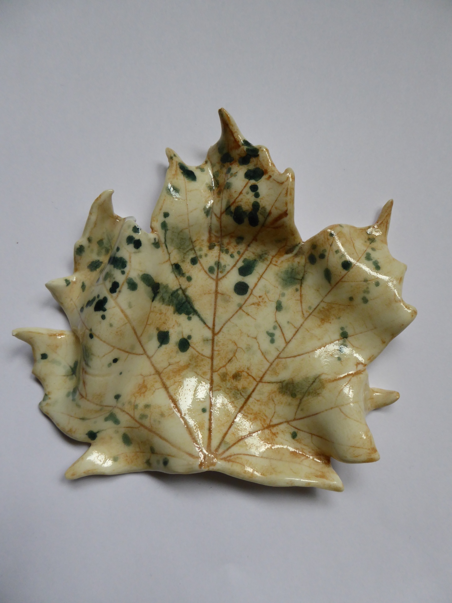 Ceramic Autumn Leaf Platter, Porcelain