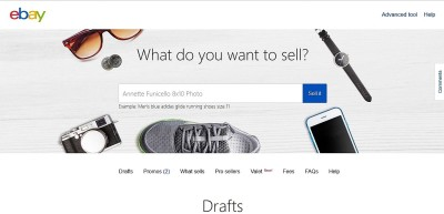 2.  Use Ebay's standard selling tools to complete the required fields with information and photos for your listing.