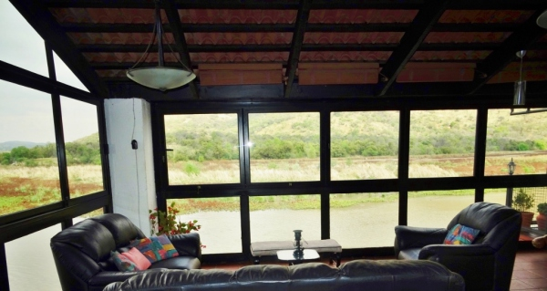 River view from patio - Holiday accommodation Hartbeespoort