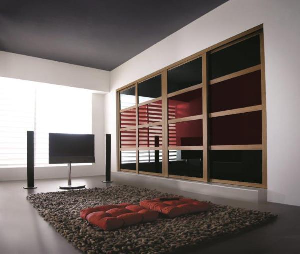 Oak Shaker Frames + Black Glass and Oak Oriental Bars.