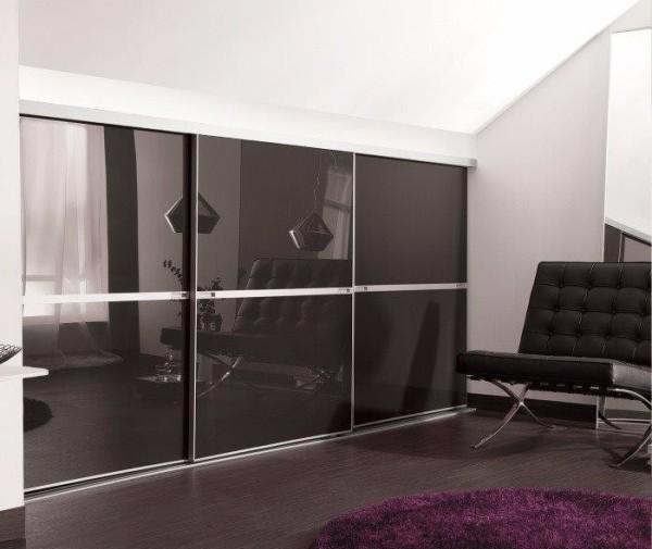 Chrome Frames + Black Glass.