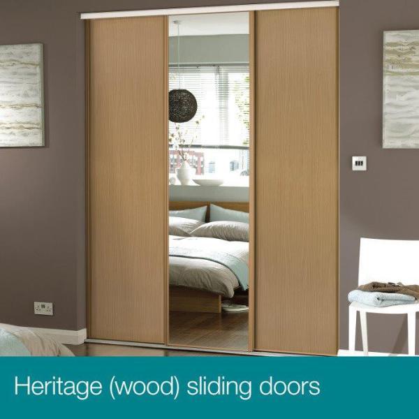 Oak Frames + Oak Panels/Mirror Doors.