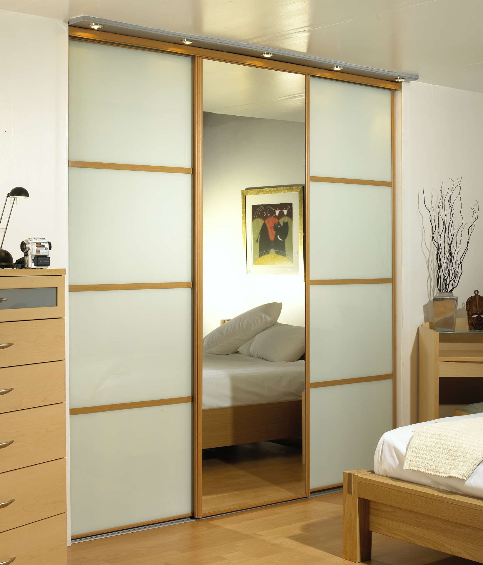 Beech Frames with Soft White Glass.
