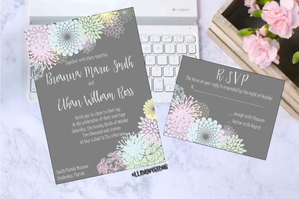 Invitation Designs Now Available On Etsy!