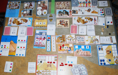 Updates to Ramesses plus a short intro to Knight's Journey the Board Game