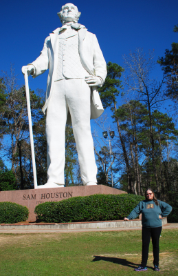 Carlie and Statue of Sam Houston: model for game illustration?