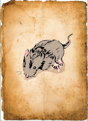 "One rat, from ""Rats in the Walls"""